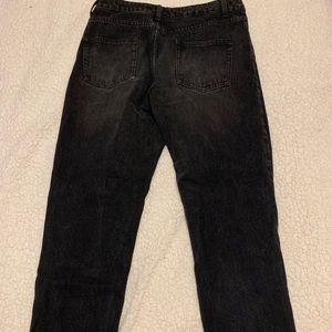 Boohoo Jeans - Boohoo black high wasted ripped jeans boyfriend